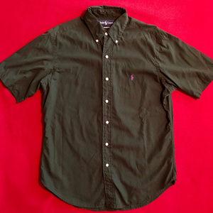 Polo short sleeve button down shirt